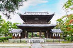 Висок Kennin-ji в Киото, Японии Стоковая Фотография RF