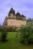 Висок Khajuraho в Индии Стоковые Изображения