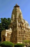 висок khajuraho Индии Стоковые Фотографии RF