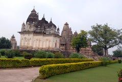 висок khajuraho Индии Стоковые Фото