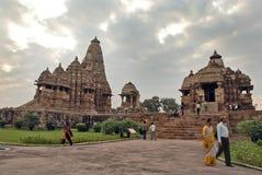 висок khajuraho Индии Стоковое Фото
