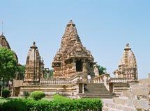 висок khajuraho Индии Стоковая Фотография