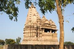Висок Khajuraho на Индии Стоковые Фотографии RF