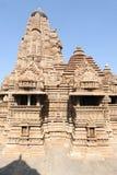 Висок Khajuraho на Индии Стоковые Изображения RF