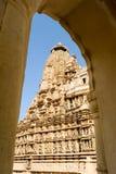 Висок Khajuraho на Индии Стоковое Изображение RF