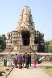 Висок Khajuraho на Индии Стоковые Изображения