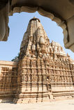 Висок Khajuraho на Индии Стоковое фото RF