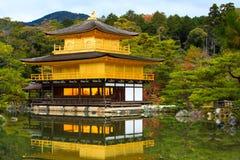 Висок Kinkakuji, Киото, Япония Стоковая Фотография