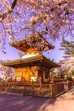 Висок Kitain в весеннем времени на городке saitama Kawagoe в Японии Стоковые Фото