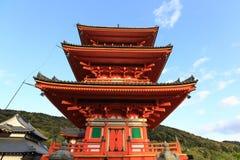 Висок Kiyomizu, Киото, Япония стоковые фото