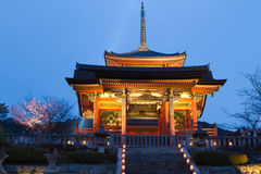 Висок Kiyomizu, Киото, Япония Стоковые Изображения