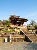 Висок Kiyomizu на Киото, Японии Стоковые Изображения