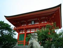 висок kiyomizu Стоковая Фотография