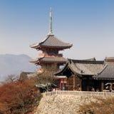 висок kiyomizu Стоковые Фото