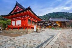 Висок Kiyomizu-Dera буддийский в Киото, Японии Стоковые Изображения RF