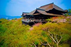 Висок Kiyomizu-Dera буддийский стоковое изображение