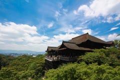 Висок Kiyomizu-dera в Киото, Японии Стоковое Изображение
