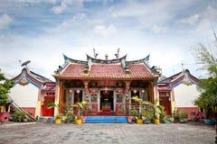 Висок Klenteng Poncowinatan китайский в Yogyakarta, Java. Стоковая Фотография RF