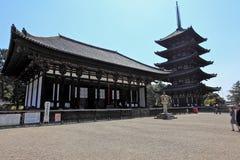 Висок Kofuku-ji, Nara, Япония Стоковое фото RF