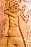 Висок kom Ombo, расположенный в Асуане, Египет стоковое изображение