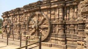 Висок Konark Солнця - архитектурноакустическая красота Индии Стоковые Фото
