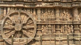 Висок Konark Солнця - архитектурноакустическая красота Индии Стоковое Изображение