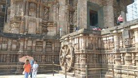 Висок Konark Солнця - архитектурноакустическая красота Индии Стоковые Изображения