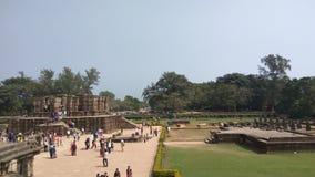 Висок Konark Солнця - архитектурноакустическая красота Индии Стоковые Фотографии RF