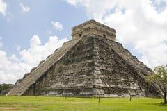 Висок Kukuklan castillo Chichen Itza el, acient культура, Юкатан, Мексика Стоковое Изображение