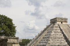 Висок Kukuklan castillo Chichen Itza el, acient культура, Юкатан, Мексика Стоковые Фото