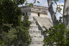 Висок Kukuklan castillo Chichen Itza el, acient культура, Юкатан, Мексика Стоковые Изображения RF
