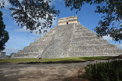 Висок Kukulkan, пирамида в Chichen Itza, Юкатане, Мексике Стоковое Изображение RF