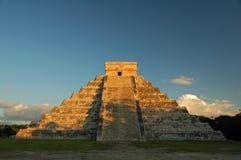 Висок Kukulkan/Chichen Itza, Мексики Стоковые Изображения RF