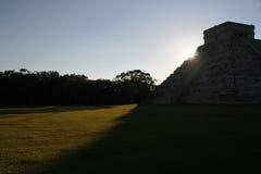 Висок Kukulkan/Chichen Itza, Мексики Стоковое фото RF