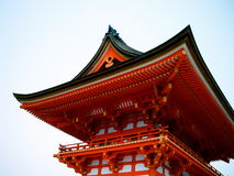 висок kyoto kiyomizu Стоковые Изображения RF