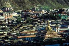 Висок Labuleng, к югу от Ганьсу, Китай стоковое фото