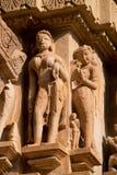 Висок Lakshamana в Khajuraho Стоковые Фотографии RF