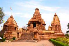 Висок Lakshmana в Khajuraho, Madhya Pradesh, Индии Стоковое Фото