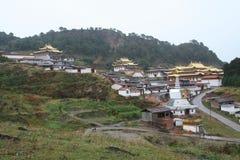 Висок Langmu в Тибете Стоковая Фотография