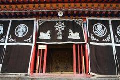 Висок Langmu в Тибете Стоковые Изображения RF