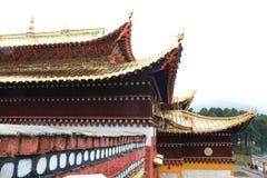 Висок Langmu в Тибете Стоковые Фотографии RF
