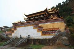 Висок Langmu в Тибете Стоковые Фото