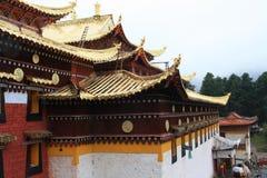 Висок Langmu в Тибете Стоковое Изображение