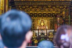 Висок Lungshan буддийский висок в районе wanhua, Тайбэе Стоковые Изображения
