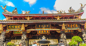 Висок Lungshan Manka буддийский висок в районе Wanhua Стоковые Фото