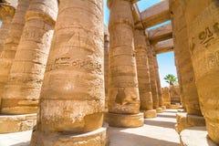 висок luxor karnak Египета Стоковые Фото