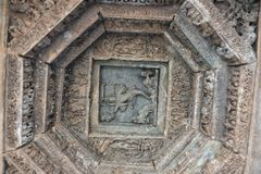 Висок Mahadeva, западное Chalukya, Itagi, Koppal, Karnataka Стоковая Фотография RF