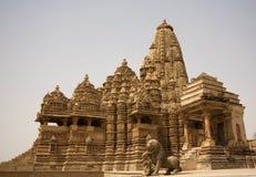 висок mahadeva kandariya Стоковое Изображение