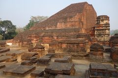 Висок Mahasamadhi Nalanda стоковая фотография rf