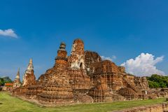 Висок Mahathat в пределе парка Sukhothai исторического стоковые изображения